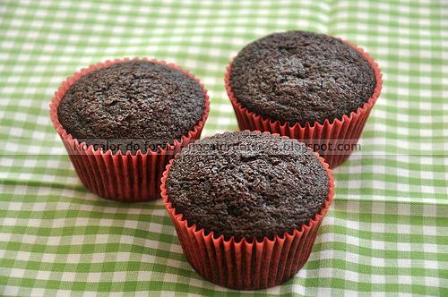 Muffins de chocolate da Hummingbird Bakery