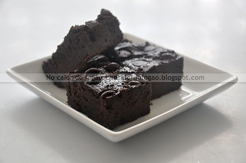 Brownie de biomassa de banana verde