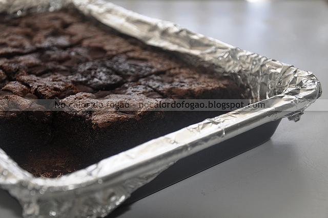 Bolo/brownie nuvenzinha de farinha de aveia
