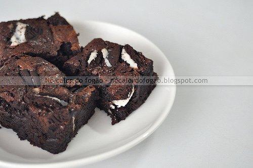 Brownies com biscoito Oreo