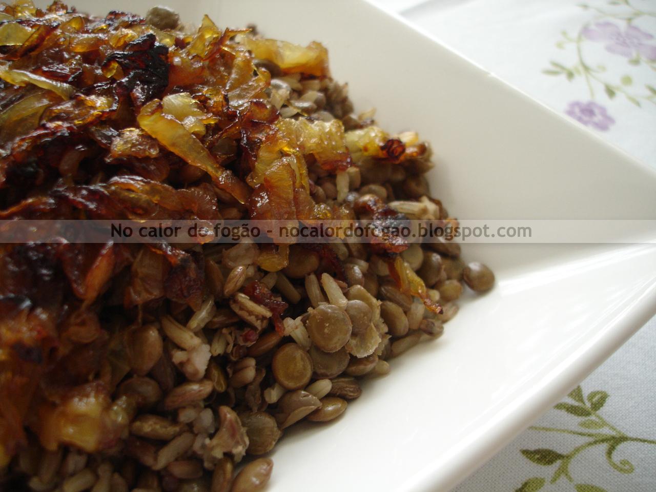 Arroz 7 grãos com lentilha
