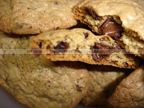 Cookies com pedaços de chocolate