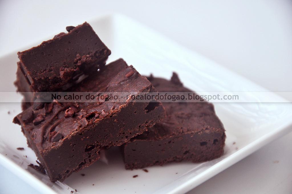 Brownies de chocolate sem glúten