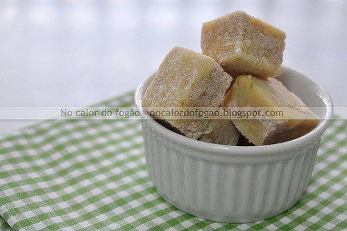 Palha italiana de limão e chocolate branco