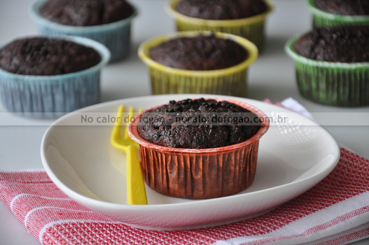 Bolinhos de chocolate e abobrinha